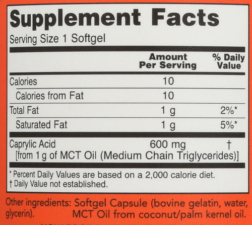 Caprylic Acid 600 mg - 100 Softgels