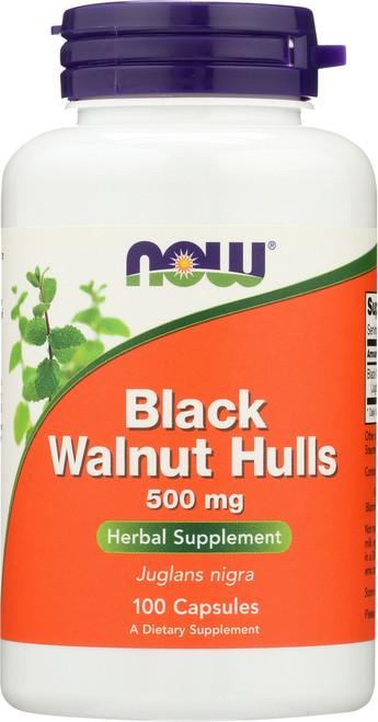 Black Walnut Hulls 500 mg - 100 Capsules
