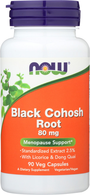 Black Cohosh Root 80 mg - 90 Veg Capsules