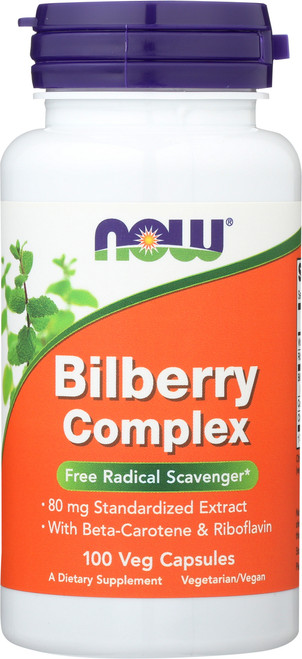 Bilberry Complex 80mg - 100 Capsules