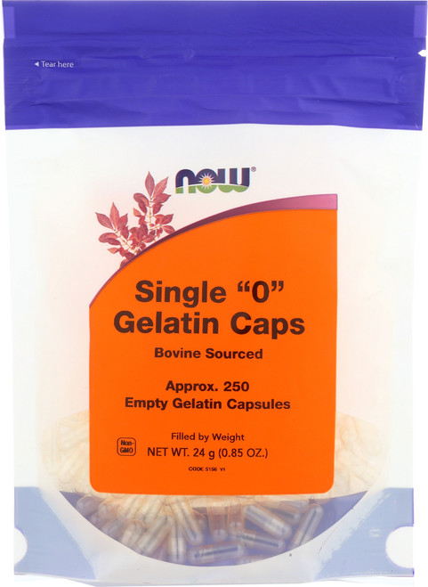 """Gelatin Caps """"0"""" - 250 gel caps"""