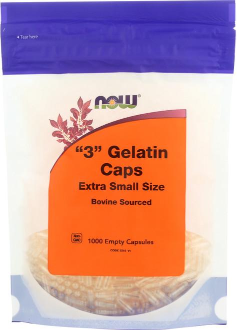 Gelatin Caps #3 - 1000 gel caps