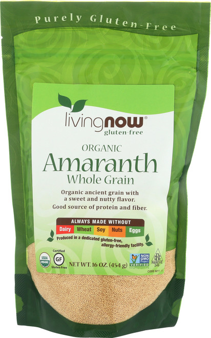 Amaranth Grain, Certified Organic - 16 oz.