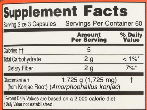 Glucomannan 575 mg - 180 Capsules