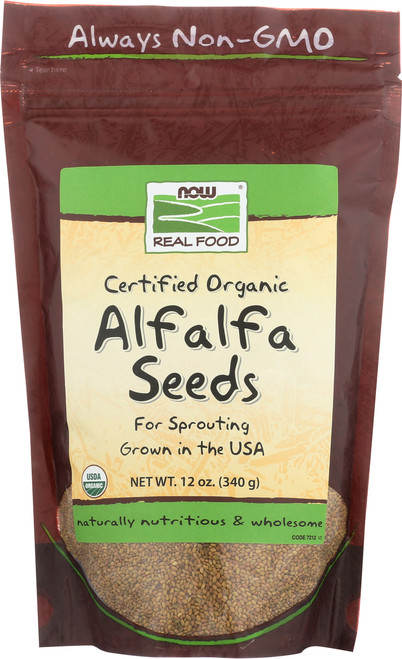 Alfalfa Seeds, Certified Organic - 12 oz.