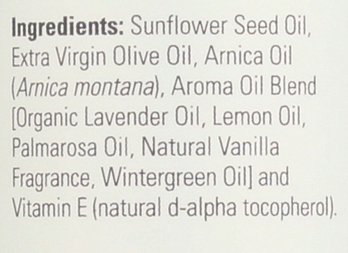 Arnica Warming Relief Massage Oil - 8 oz.