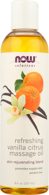 Refreshing Vanilla Citrus Massage Oil - 8oz