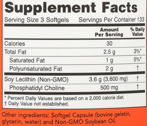 Lecithin 1200 mg - 400 Softgels