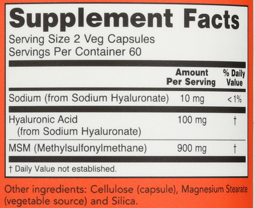 Hyaluronic Acid with MSM - 120 Vcaps®
