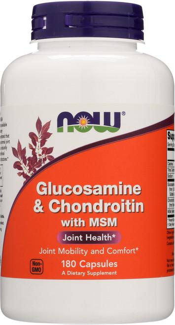 Glucosamine & Chondroitin with MSM - 180 Capsules