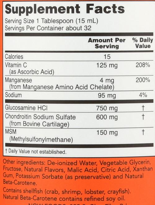 Liquid Glucosamine & Chondroitin with MSM - 16 oz.