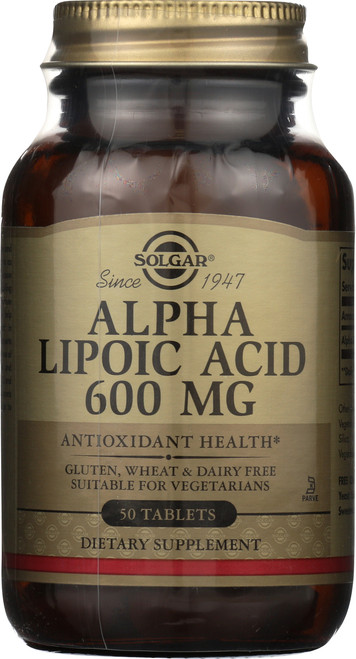 Alpha Lipoic Acid 600mg 50 Tablets