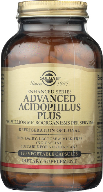 Advanced Acidophilus Plus 120 Vegetable Capsules