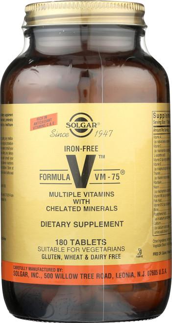 Iron-Free Formula VM-75 180 Tablets