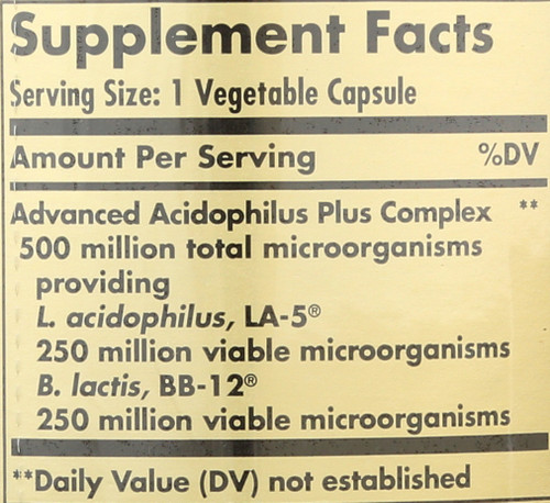 Advanced Acidophilus Plus 240 Vegetable Capsules