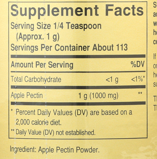 Apple Pectin 4 oz Powder