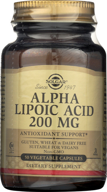 Alpha Lipoic Acid 200mg 50 Vegetable Capsules