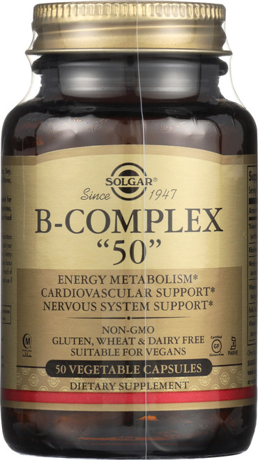 """B-Complex """"50"""" 50 Vegetable Capsules"""