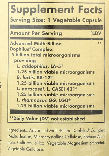 Advanced Multi-Billion Dophilus 60 Vegetable Capsules