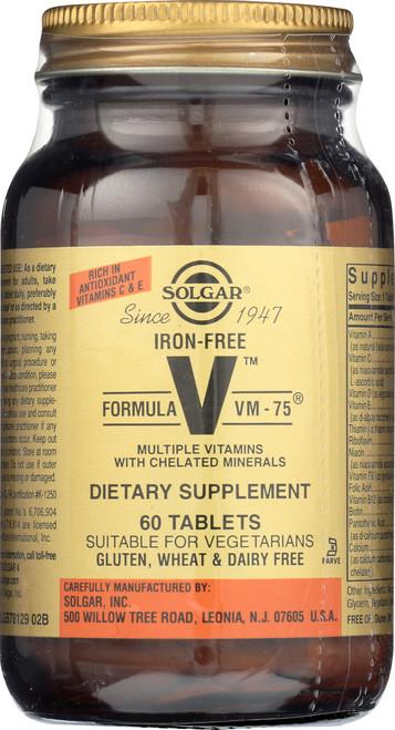 Iron-Free Formula VM-75 60 Tablets