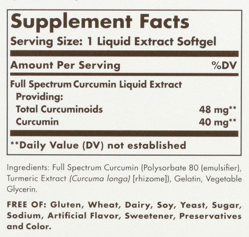 Curcumin Full Spectrum 185x 24 Hour Support 60 Softgels