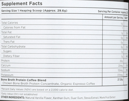 BONE BROTH PROTEIN - COFFEE - 20.9 OZ