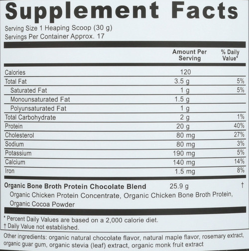 ORGANIC BONE BROTH PROTEIN™ - DARK CHOCOLATE - 17.8 OZ