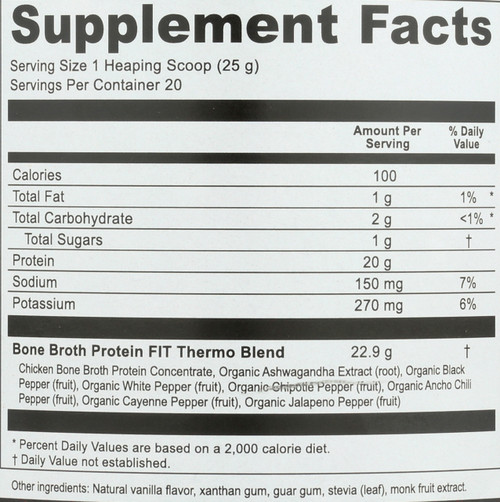 BONE BROTH PROTEIN™ FIT - THERMO BURNER - 17.8 OZ