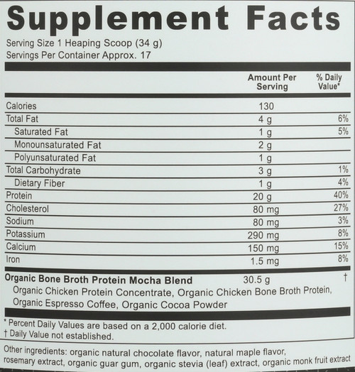 ORGANIC BONE BROTH PROTEIN - CAFÈ MOCHA - 20.5 OZ