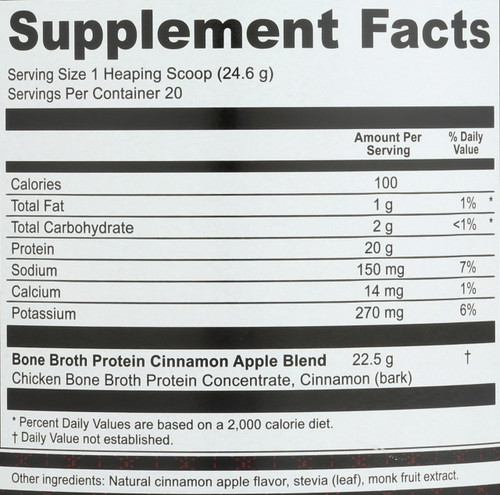 BONE BROTH PROTEIN - CINNAMON APPLE - 17.4 OZ