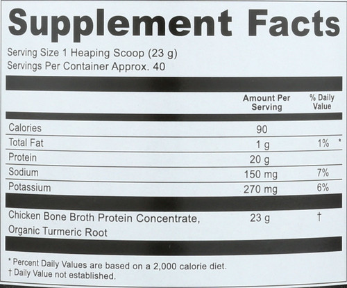 BONE BROTH PROTEIN - TURMERIC - 32.4 OZ