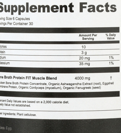 BONE BROTH PROTEIN FIT - MUSCLE BOOSTER - 180 CAPSULES