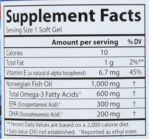 Fish Oil - Super Omega-3 Gems® - 250 Soft Gels