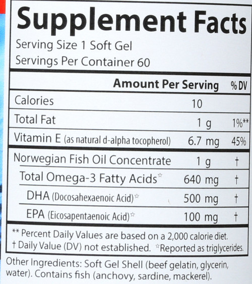 Fish Oil - Super Dha Gems - 60 Soft Gels