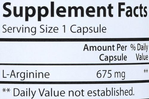 Amino Acid - L-Arginine 675 Mg - 90 Capsules