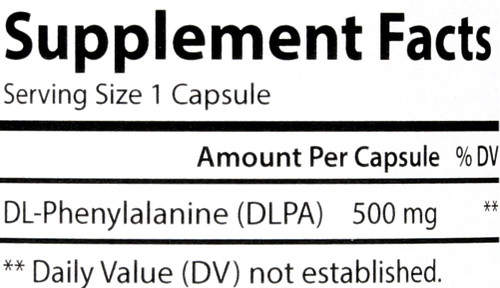 Amino Acid - Dlpa Dl-Phenylalanine 500 Mg - 60 Capsules