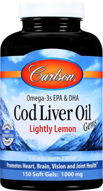 Cod Liver Oil - Lightly Lemon - 300 Soft Gel