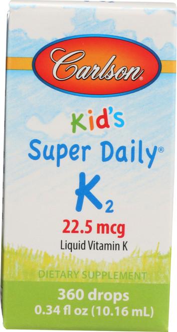 Kid'S Super Daily D3 + K2 - 25 Mcg Of Vitamin D3 + 22.5 Mcg Of Vitamin K2 As Mk-7 Per Drop - 360 Drops