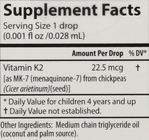 Kid'S Super Daily K2 - 22.5 Mcg Of Vitamin K2 As Mk-7 Per Liquid Drop - 360 Drops