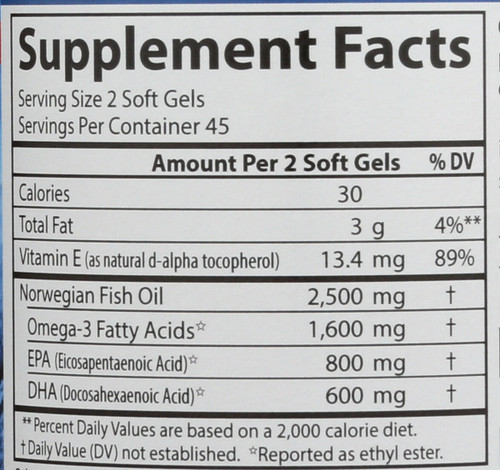 Fish Oil - 90 + 30 - 90 Soft Gels