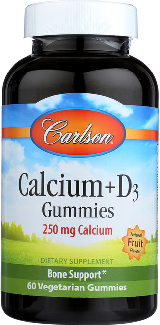Kid'S Calcium + D3 Gummies - With 250 Mg Of Calcium + Vitamin D3 - 60 Gummies