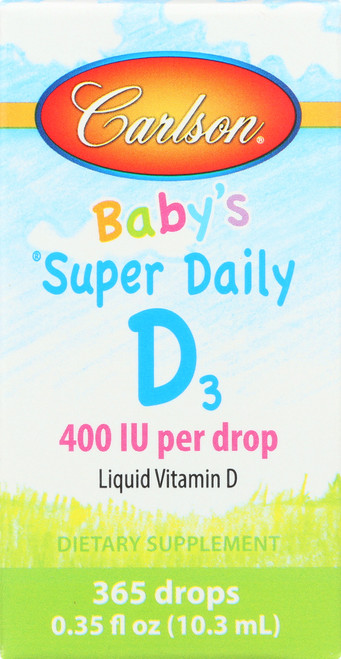 Vitamin D - Super Daily D3 For Kids 400 Iu - 365 Each