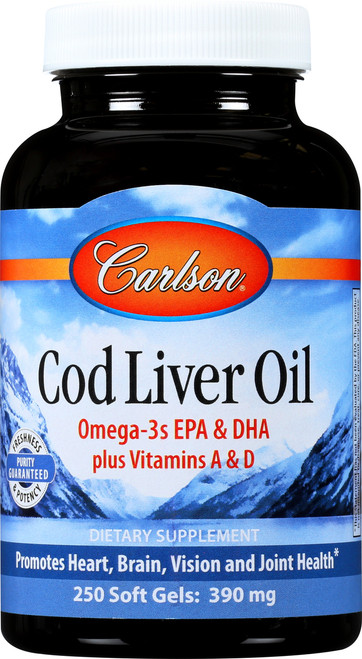 Cod Liver Oil - Norwegian Natural Flavor - 8.4 Fluid Ounce