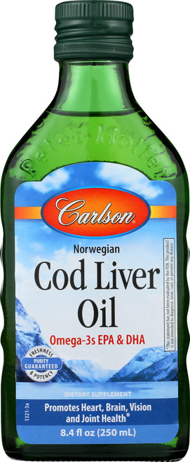Cod Liver Oil - Norwegian Natural Flavor - 16.9 Fluid Ounce