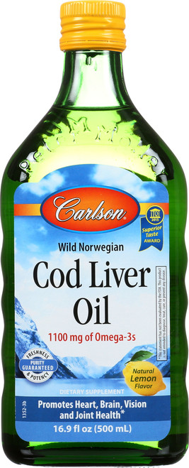 Cod Liver Oil - Lemon - 8.4 Fl Oz.