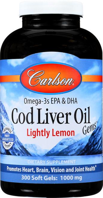 Cod Liver Oil - Natural Lemon Flavor - 150 Soft Gel