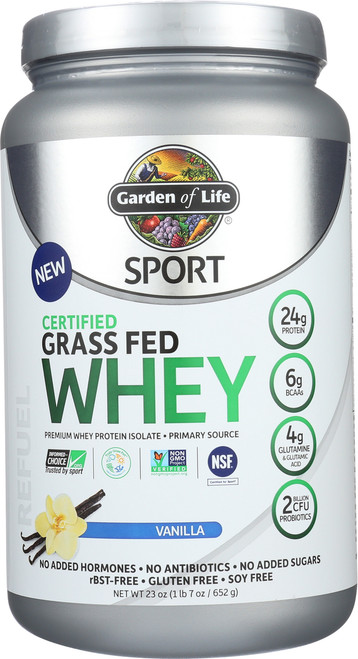 Certified Grass Fed Whey - Vanilla 652G Powder