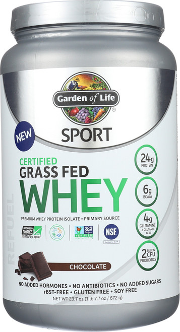Certified Grass Fed Whey Chocolate 672G Powder