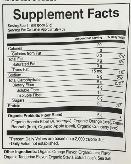 Dr. Formulated Organic Fiber Citrus 32g Powder