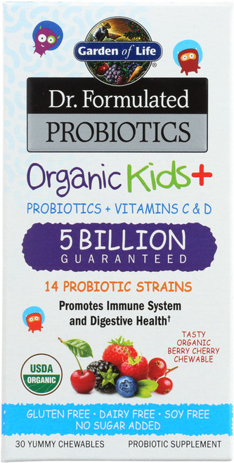 Dr. Formulated Probiotics Organic Kids 30 Chewables